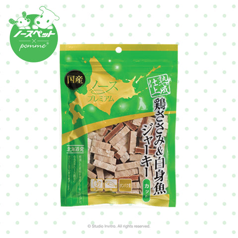 North Pet Aging Chicken Sasami &White fish jerky Cube
