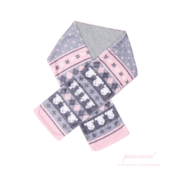 Scarf - Pomme Classic Pattern Pink