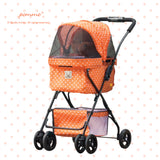 PommeCart HappyWalker Polka Dot Orange - Latte
