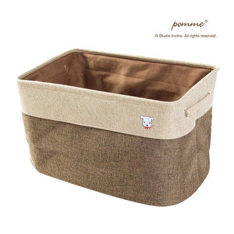 Linen Soft Box Tall - Brown