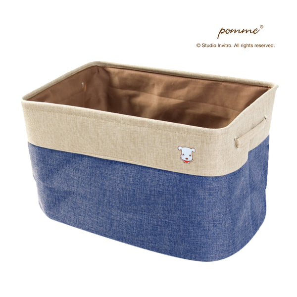 Linen Soft Box Tall - Navy