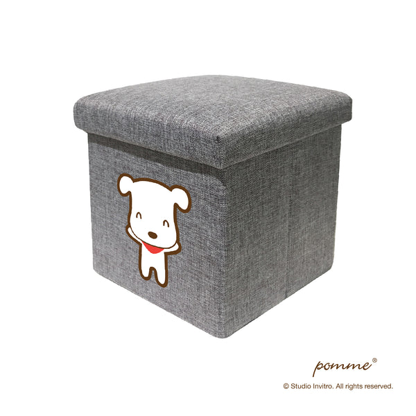 Storage Stool S Black - Latte