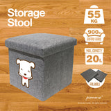 Storage Stool L Black Combo - Latte