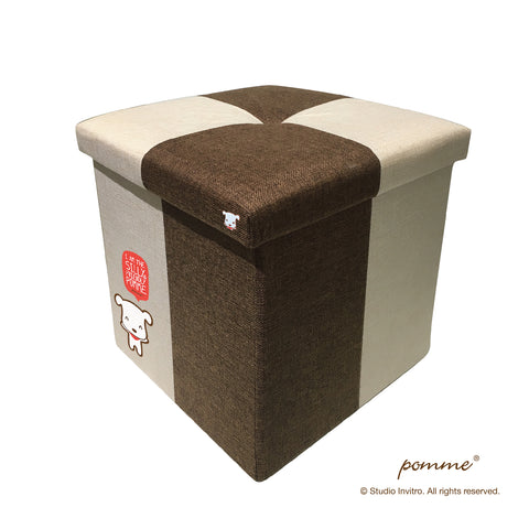 Storage Stool L Brown Combo - Pomme