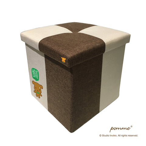 Storage Stool L Brown Combo - Latte