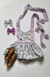 Claudia Playsuit in lilac and floral