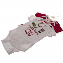 England R.F.U. 2 Pack Bodysuit 9/12 mths RW Official Licensed Product