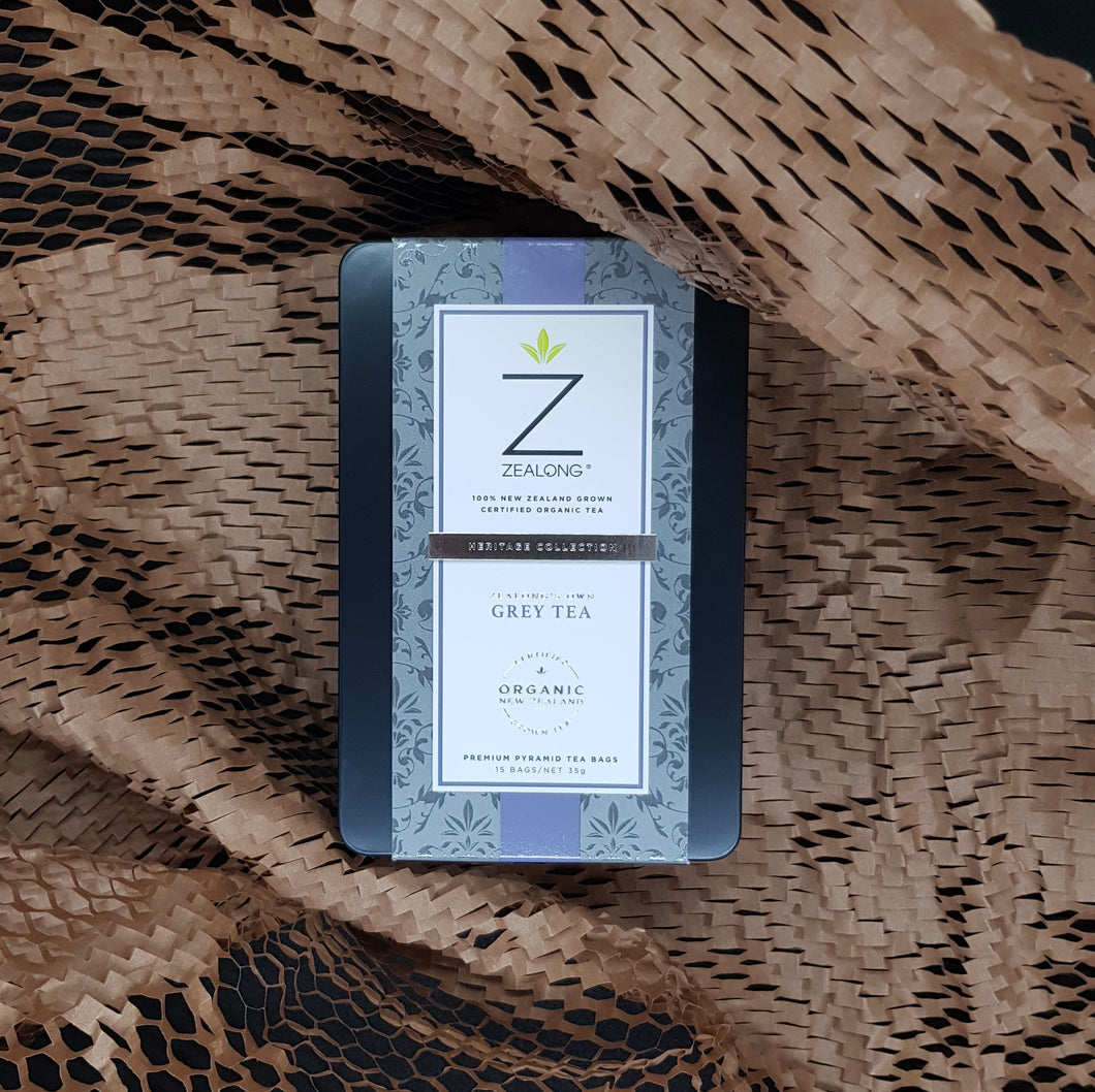 Zealong Grey Tea 35g, premium pyramid tea bags