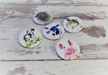 Load image into Gallery viewer, Farm Animals, Set of 5 Pin Badges