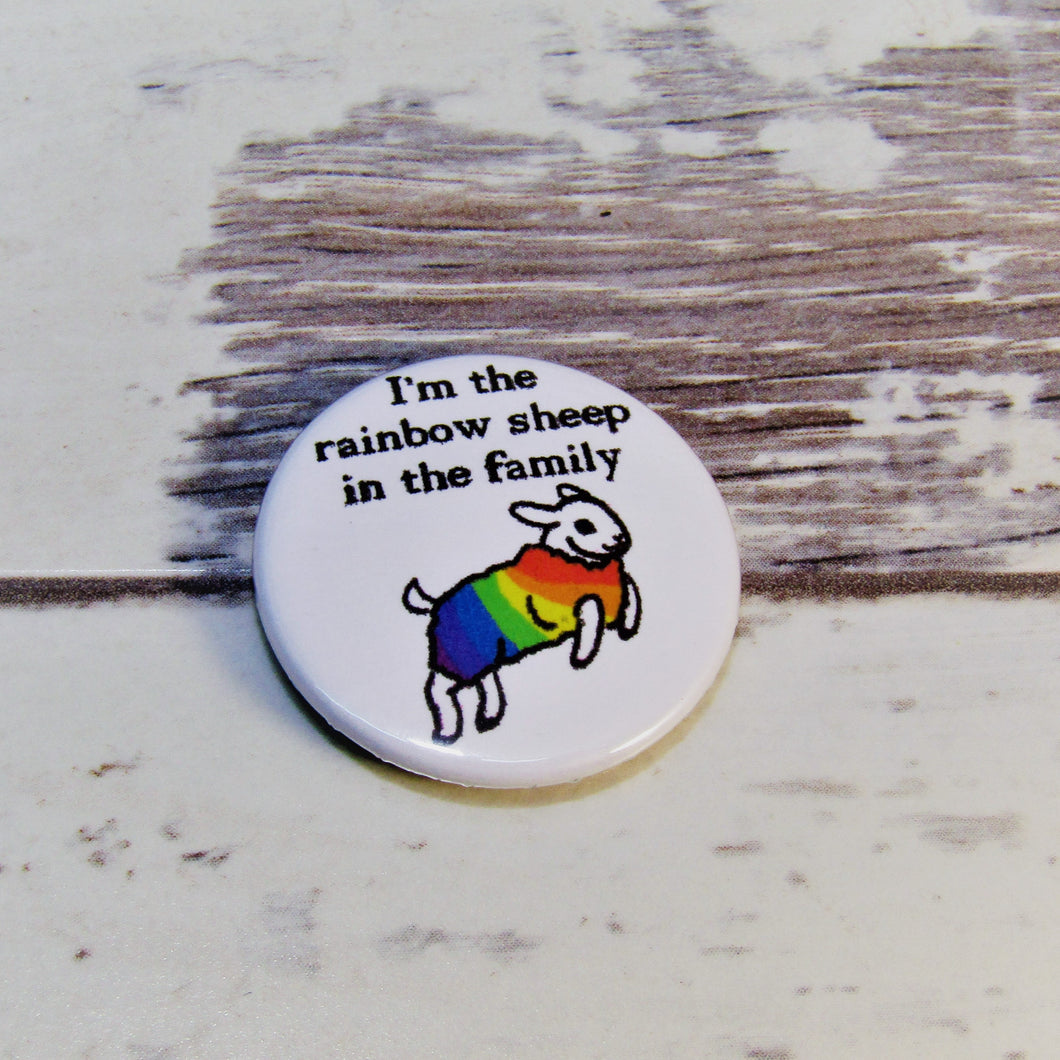 Rainbow Sheep of the Family, Pin Badge
