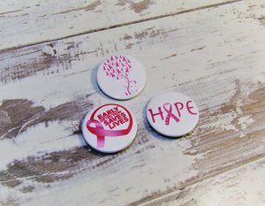 Breast Cancer Awareness, Pin Badges
