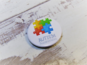 Autism Awareness, Pin Badges (WHOLESALE)
