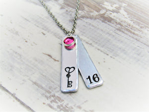 16th Birthday, Milestone Necklace