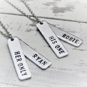 His One, Her Only, Couples Necklaces