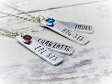 Load image into Gallery viewer, Big Sis, Lil Sis, Personalised Necklaces