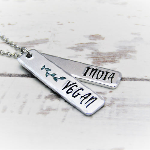 Vegan, Personalised Necklace