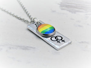 Gay Pride Venus Necklace