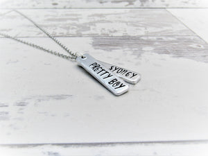 Pretty Boy, Personalised Necklace