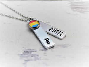 Signature Pansexual, Personalised Necklace