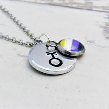 Load image into Gallery viewer, Symbolic Non Binary Necklace