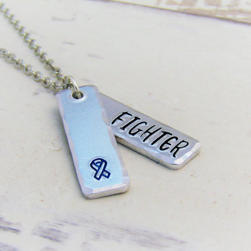 Blue Ribbon, Awareness Necklace