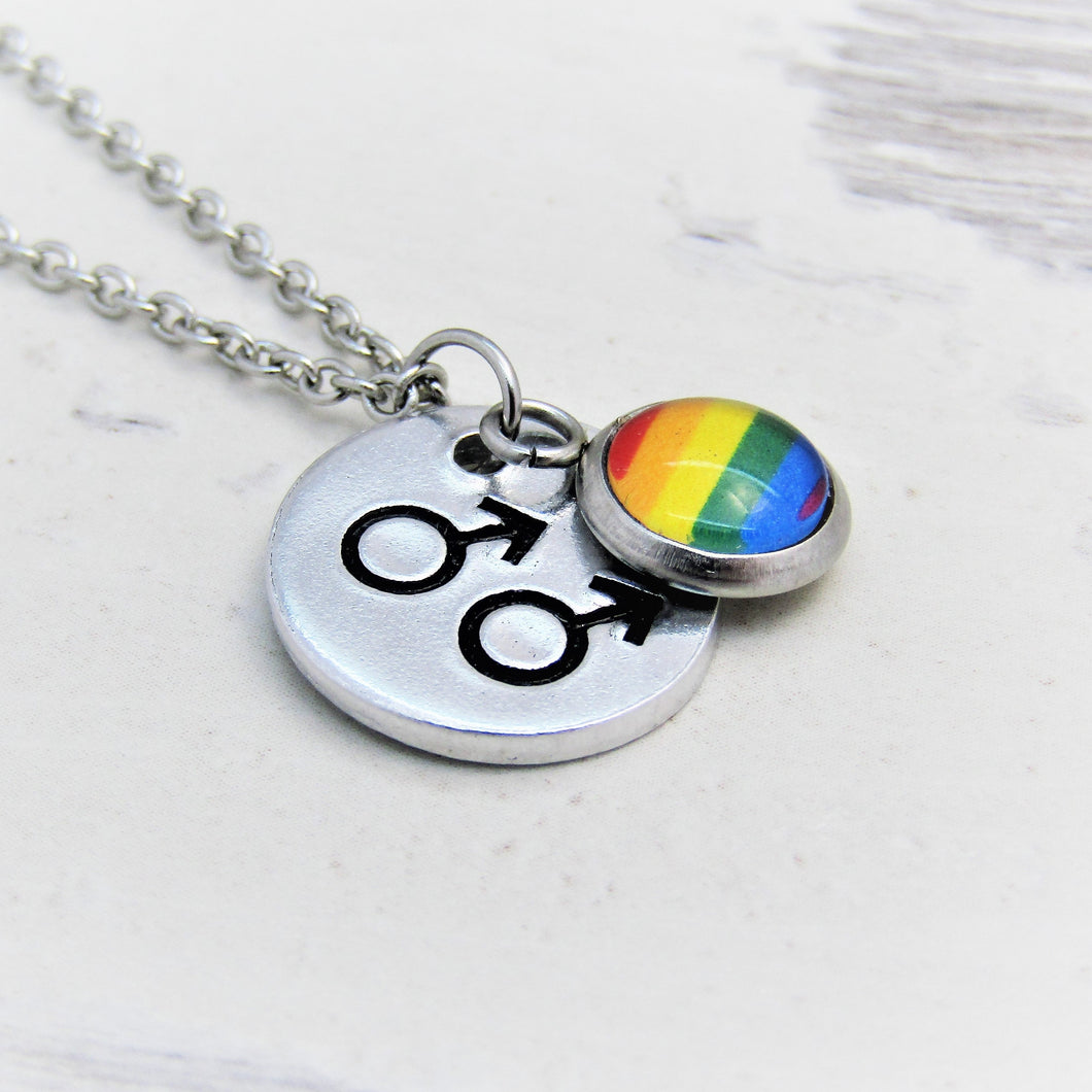 Symbolic Gay Pride Mars Necklace