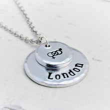 Load image into Gallery viewer, Personalised Symbolic, Bisexual Necklace