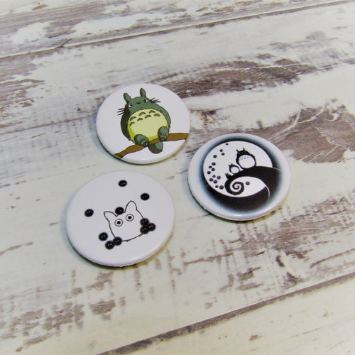 My Neighbour Totoro, Whimsical Set of 3 Pin Badges
