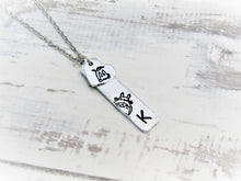 Load image into Gallery viewer, Totoro, Initial Heart Necklace