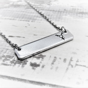 Transgender Bar Necklace