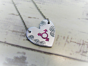 Transgender Heart Necklace