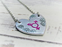 Load image into Gallery viewer, Transgender Heart Necklace