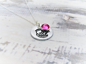 Snowdrop Memorial, Birthstone Necklace