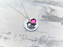 Load image into Gallery viewer, Snowdrop Memorial, Birthstone Necklace