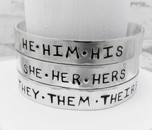 Load image into Gallery viewer, Bold Pronoun Bracelet