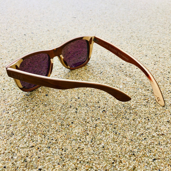 Lani Kai Eddie Brown Wood Sunglasses