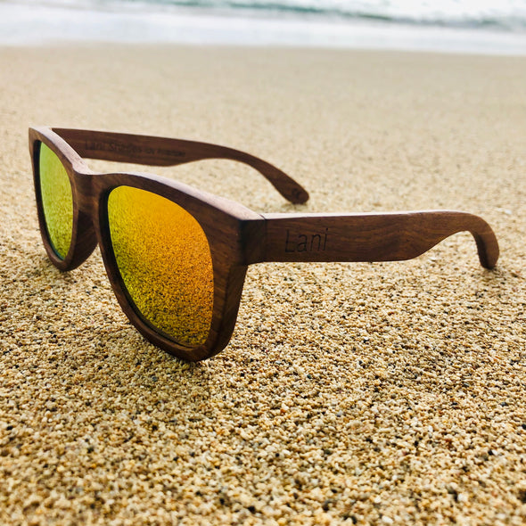 Lani Nui Sunset Wood Sunglasses