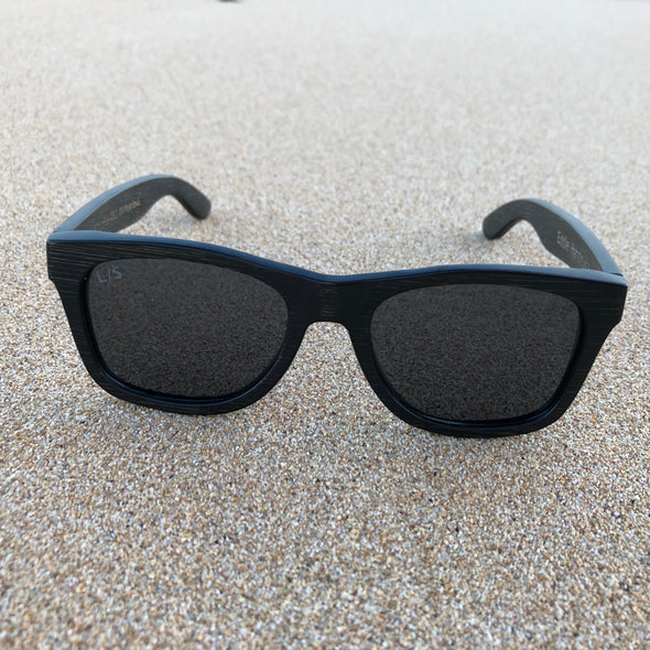 Lani Ohe Black Wood Sunglasses