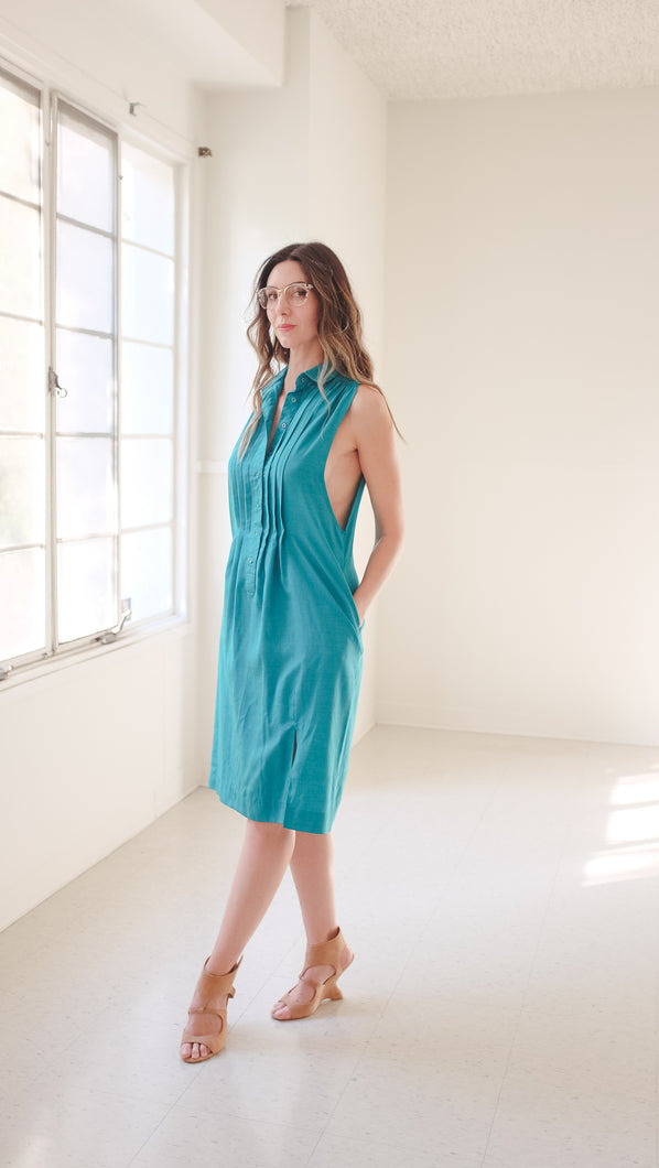 Transformed Vintage Dress - Modified and Upcycled - Zero Waste Fashion -