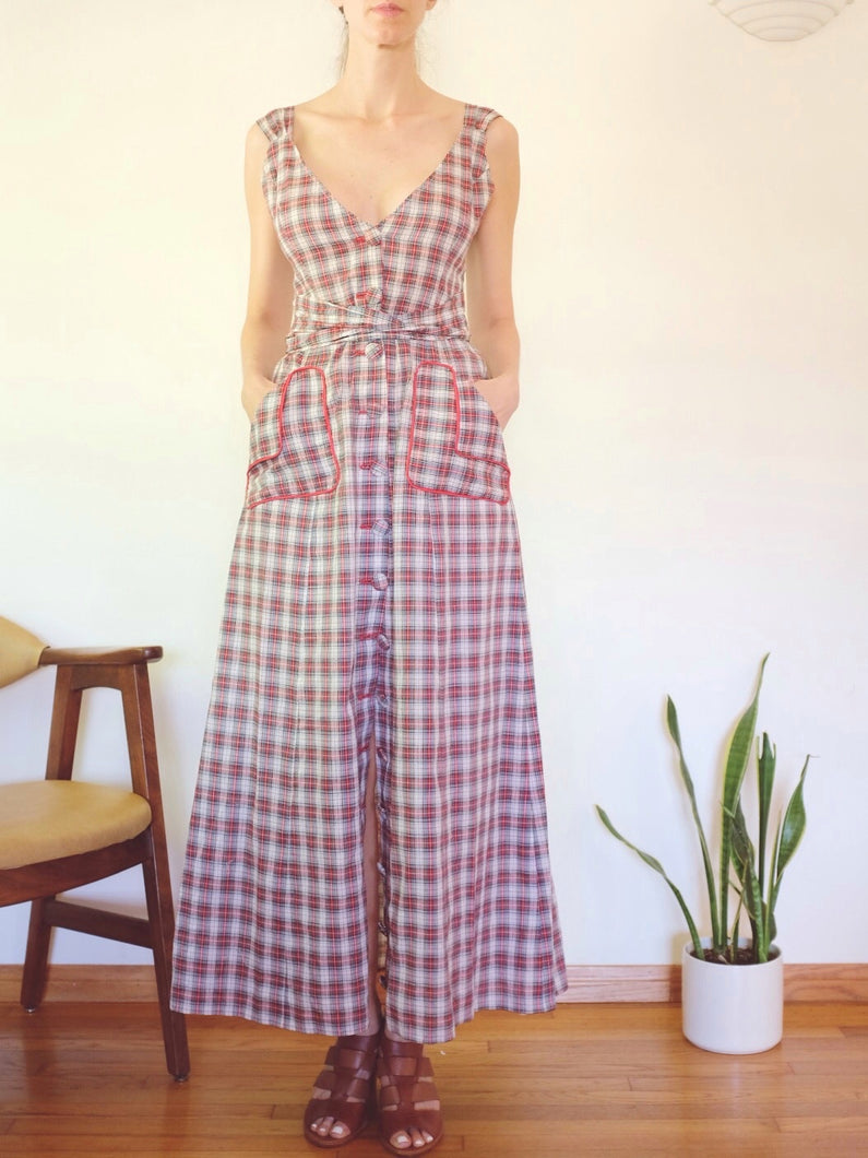 Transformed Vintage Dress - Modified and Upcycled - Zero Waste Fashion - Size Small