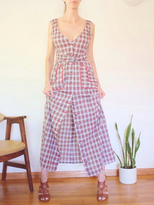"Transformed Vintage Dress - Modified and Upcycled - Zero Waste Fashion - ""You Plaid Me At Hello"""