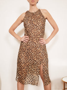 "Transformed Vintage Dress - modified + upcycled fashion - ""Cheetas Will Be Cheetahs"""