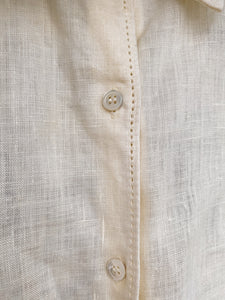 "Upcycled Vintage Linen Shirt - ""Linen One For The Team"" - Transformed Vintage"