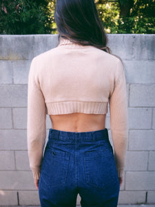 "Transformed Vintage Sweater - Cropped and Upcycled - Zero Waste Fashion - ""Sweater The Weather Be Hot 1.4"""