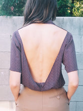 Load image into Gallery viewer, Transformed Vintage Top - Chic Open-back Blouse - Size Medium