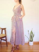 "Load image into Gallery viewer, Transformed Vintage Dress - Modified and Upcycled - Zero Waste Fashion - ""You Plaid Me At Hello"""