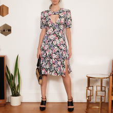 "Load image into Gallery viewer, Transformed Vintage Dress - Modified and Upcycled - Zero Waste Fashion - ""The Floral Majority"""