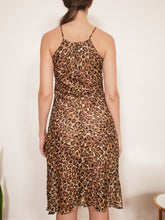 "Load image into Gallery viewer, Transformed Vintage Dress - modified + upcycled fashion - ""Cheetas Will Be Cheetahs"""