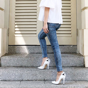 The Alyssa Pumps - White
