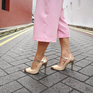 The Charlotte Pumps - Nude and Gold